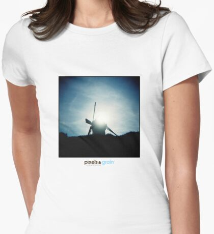 Holga Windmill Womens Fitted T-Shirt