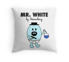 Mr White Throw Pillow