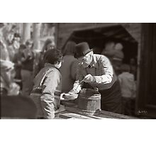 Uncle Harry Uhlman Sugaring Photographic Print