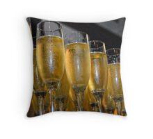 Wedding Champagne Throw Pillow