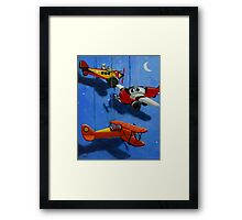 Flying Dreams - airplane painting Framed Print