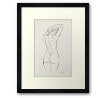 Girl Letting Down Hair Framed Print