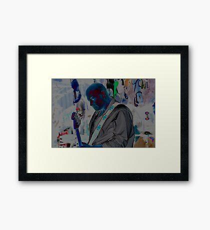 Blue Man Chris Framed Print