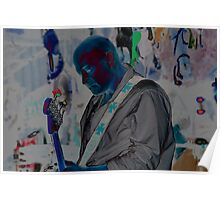 Blue Man Chris Poster