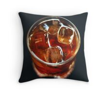Cold drink Throw Pillow