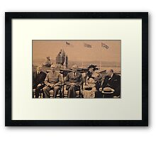 Distinguished Guests of Canada at Famous Quebec Conference. Framed Print