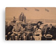Distinguished Guests of Canada at Famous Quebec Conference. Canvas Print