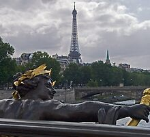 Eiffel Tower from Pont Alexander by William Gordon