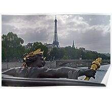 Eiffel Tower from Pont Alexander Poster