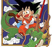 Kid Goku & Shenron by bradjordan412