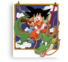 Kid Goku & Shenron Canvas Print