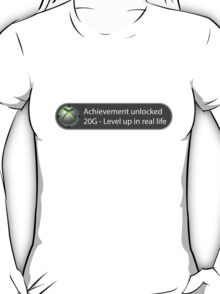 Achievement Unlocked - 20G Level up in real life T-Shirt