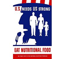 Eat Nutritional Food -- Uncle Sam Photographic Print