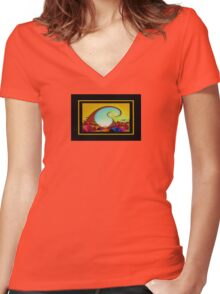 Crystal Roseland VII Women's Fitted V-Neck T-Shirt