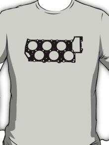 VR6 Cylinder Head (Black Print) T-Shirt