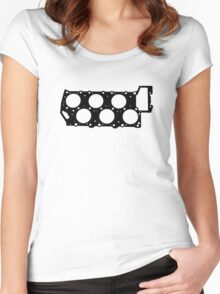 VR6 Cylinder Head (Black Print) Women's Fitted Scoop T-Shirt
