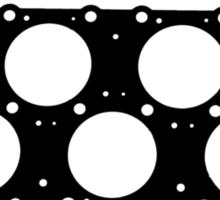 VR6 Cylinder Head (Black Print) Sticker