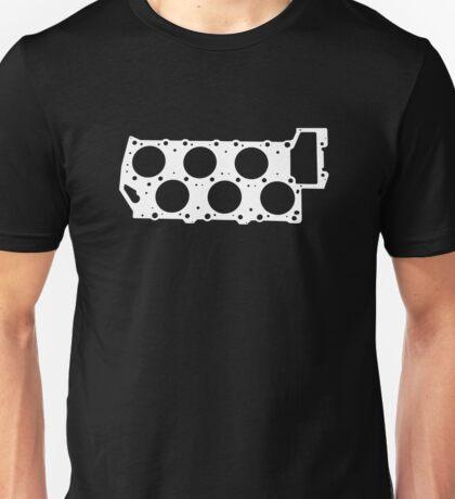 VR6 Cylinder Head (White Print) Unisex T-Shirt