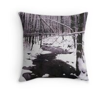 10802-1  FIRST SNOWFALL OF THE YEAR Throw Pillow