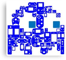 Pac Man Ghost Controllers (blue eyes) Canvas Print
