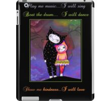 Original Cat Love art by ANGIECLEMENTINE WORDS iPad Case/Skin