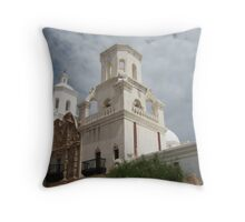 East Tower of San Xavier Throw Pillow