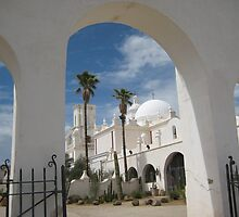 San Xavier from the Back Gate by Michael Cohen