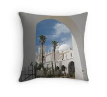 San Xavier from the Back Gate Throw Pillow