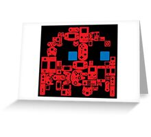 Pac Man Ghost Controllers (blue eyes) Greeting Card