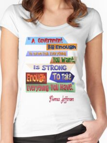 A Government Big Enough Women's Fitted Scoop T-Shirt