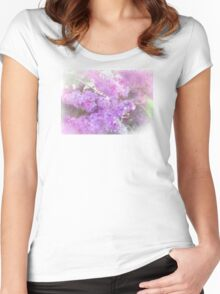 Lovely Lilac Women's Fitted Scoop T-Shirt