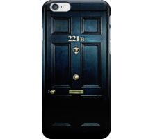 Haunted Blue Door with 221b number iPhone Case/Skin