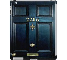 Haunted Blue Door with 221b number iPad Case/Skin