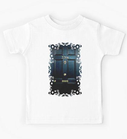 Haunted Blue Door with 221b number Kids Tee