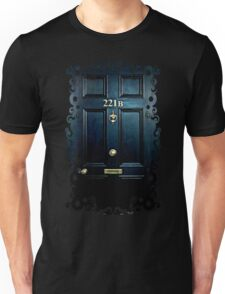 Haunted Blue Door with 221b number Unisex T-Shirt