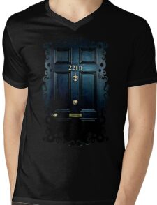 Haunted Blue Door with 221b number Mens V-Neck T-Shirt