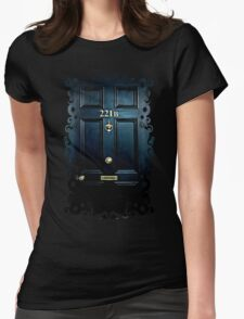 Haunted Blue Door with 221b number Womens Fitted T-Shirt