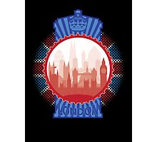 London and the Tardis - Sticker Photographic Print