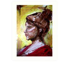 Yellow Portrait Art Print