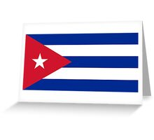 National flag of Cuba - Authentic HD version Greeting Card