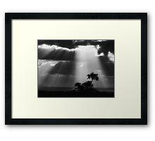 """Cascade of Light"" Framed Print"