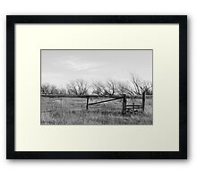 Gate in Kansas Field Framed Print