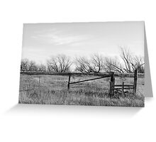 Gate in Kansas Field Greeting Card