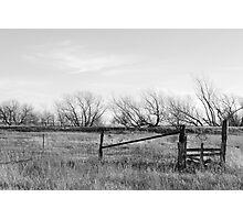 Gate in Kansas Field Photographic Print