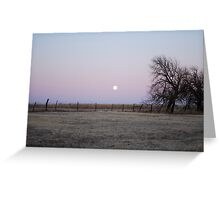 Moonrise in Kansas Greeting Card