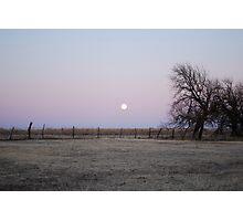 Moonrise in Kansas Photographic Print