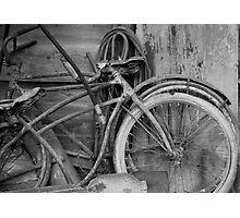 Vintage Bikes Photographic Print