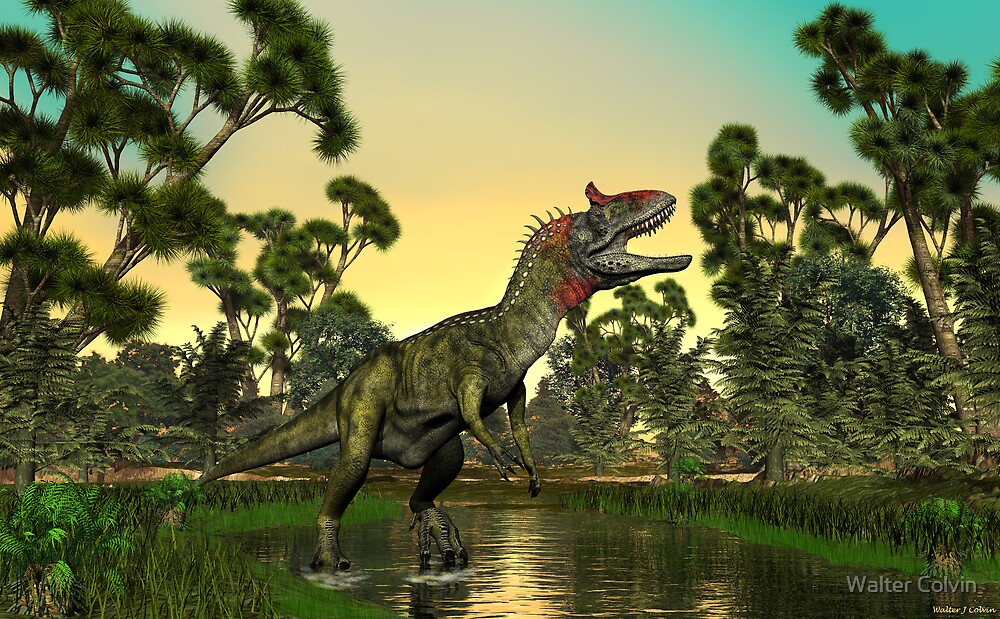 Cryolophosaurus by Walter Colvin