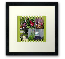 Garden Collage Framed Print