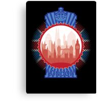 London and the Tardis Canvas Print